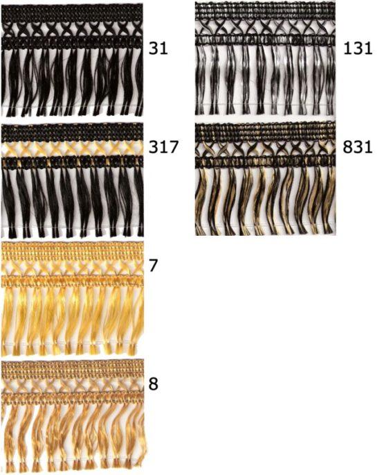 Kreuzfranse, 50 mm hoch - fransen