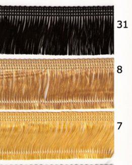 Haarfranse, 40 mm hoch - fransen