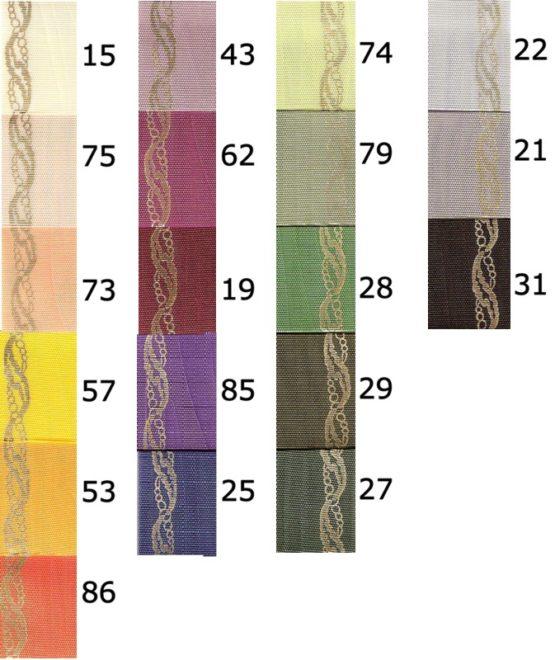 Moiré-Kranzband, Schnittkante, Perlenkette-Rand gold - praegemoire, moire-band