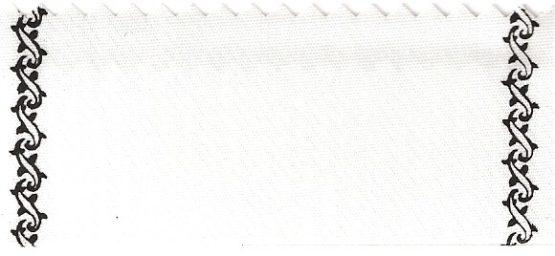Supersatin-Kranzband, Rand Z-Ranke schwarz - supersatinband