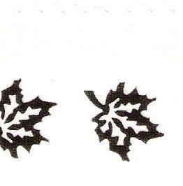 Satin-Kranzband, weiß mit Efeu-Rand - satinband