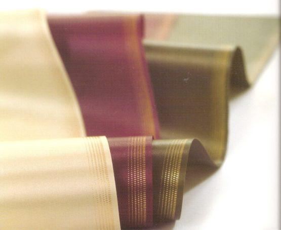 Satin-Kranzband, Ombré-Rand gold - satinband