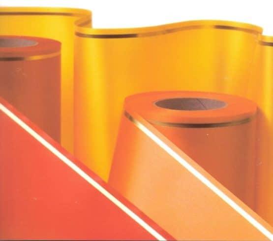 Supersatin-Kranzband, Strich-Rand gold - supersatinband