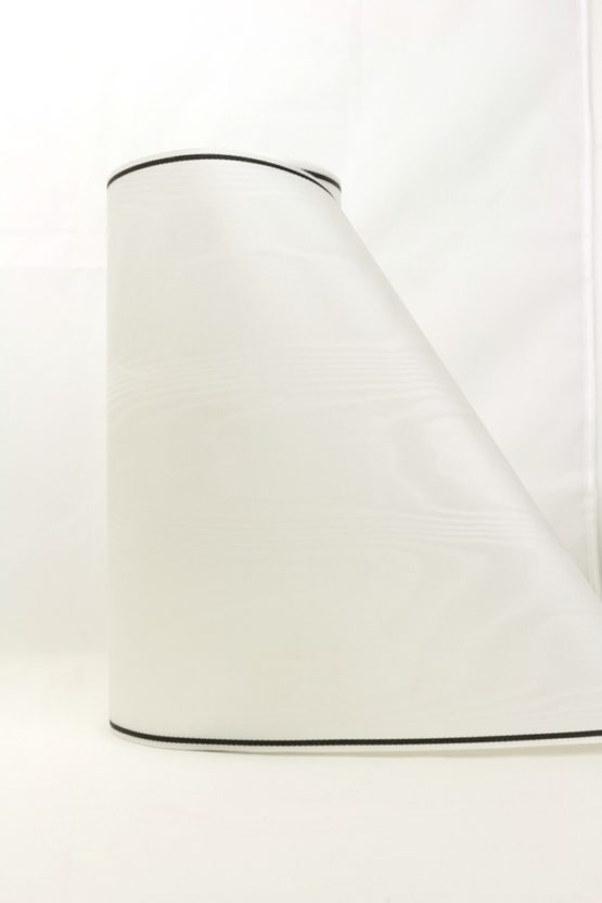 Moiré-Band 250 mm, weiß m. Strichrand - verzugsmoire, sonderposten, moire-band