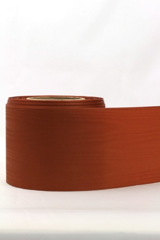 Moiré-Band 75 mm, rehbraun - verzugsmoire, sonderposten, moire-band