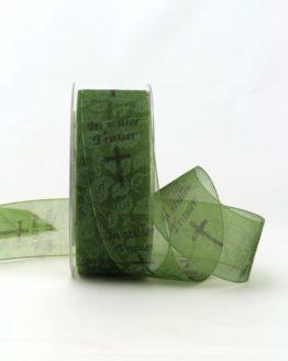 Trauerband In stiller Trauer, 40 mm, grün - trauerband