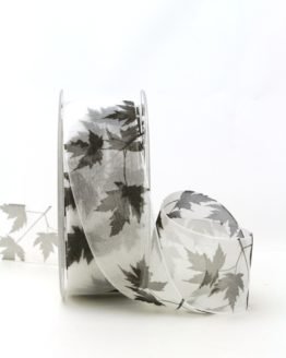 Trauerband Blätter, 40 mm - trauerband