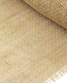 Jute-Tischläufer natur, 25 cm breit, 10 m Rolle - tischlaeufer
